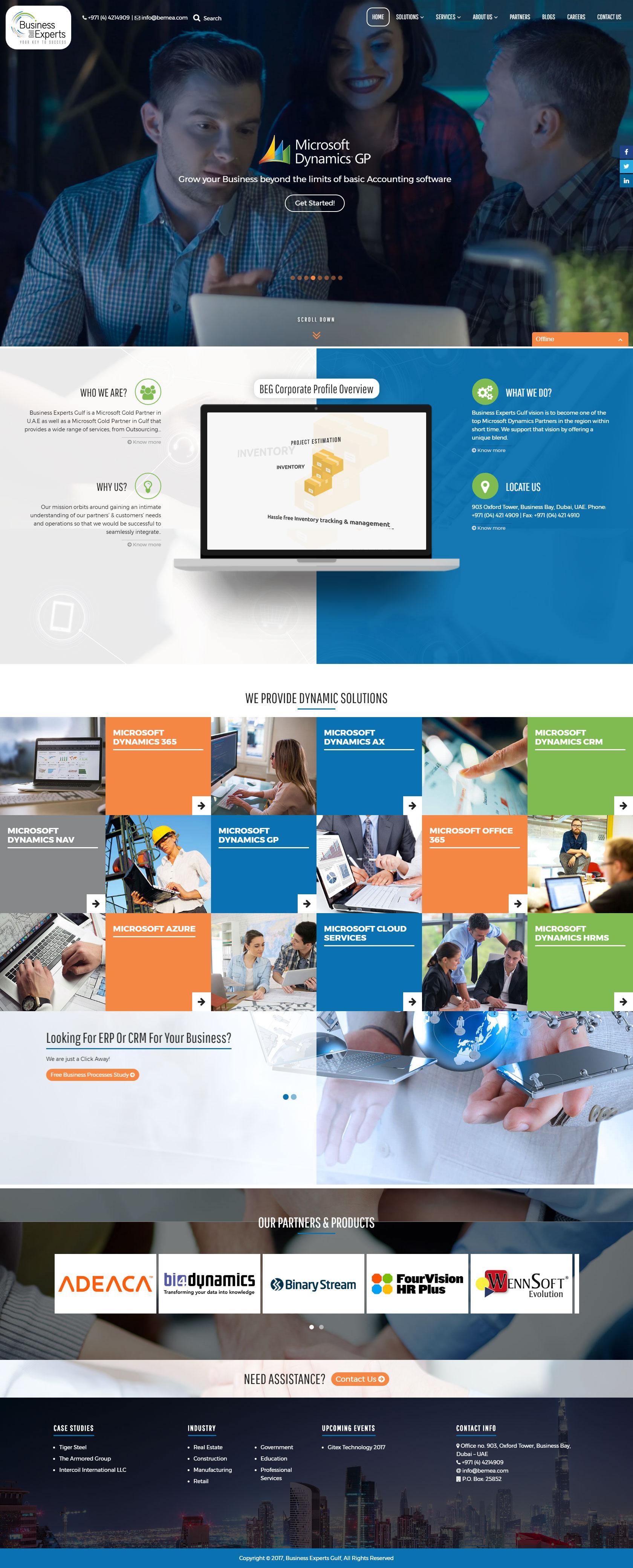 Business Expert Gulf Web Design & Development (Wordpress)