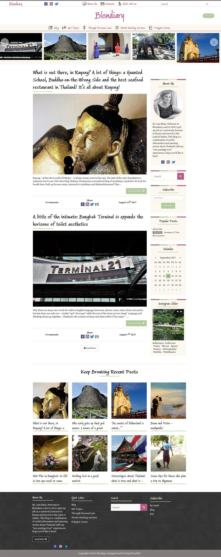 Blondiary Website Design & Development (Wordpress)