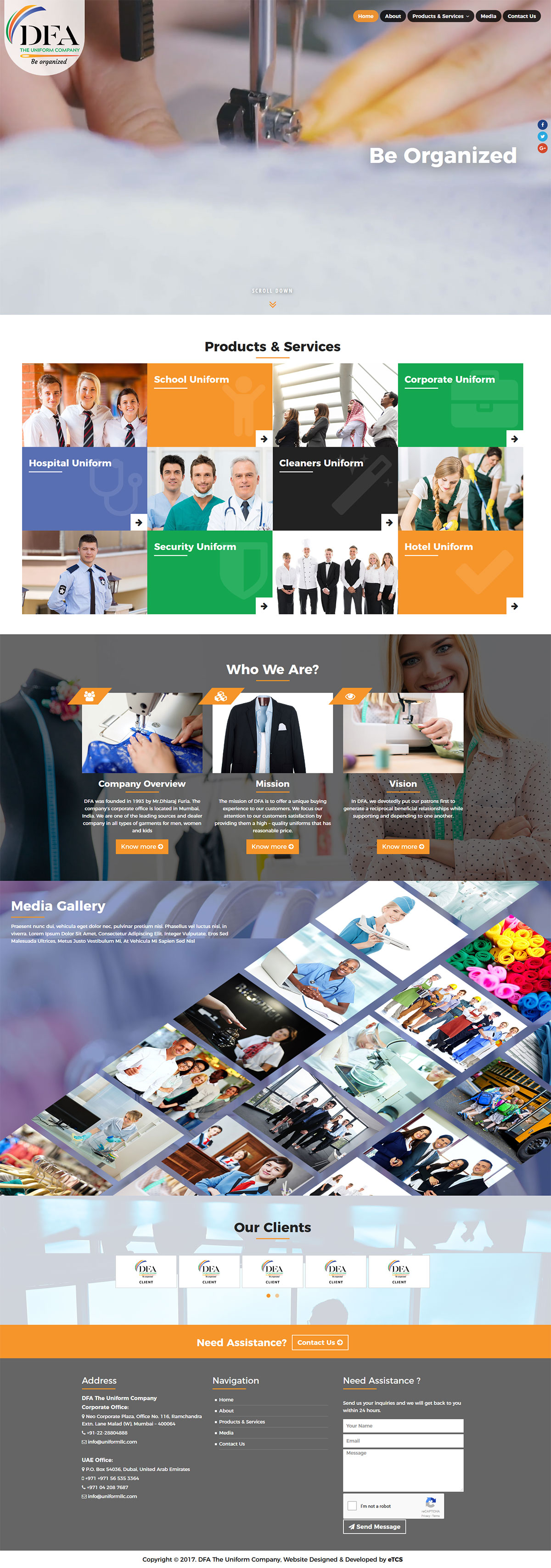 Emirates Transport Technology Solutions Web Design & Development (Wordpress)
