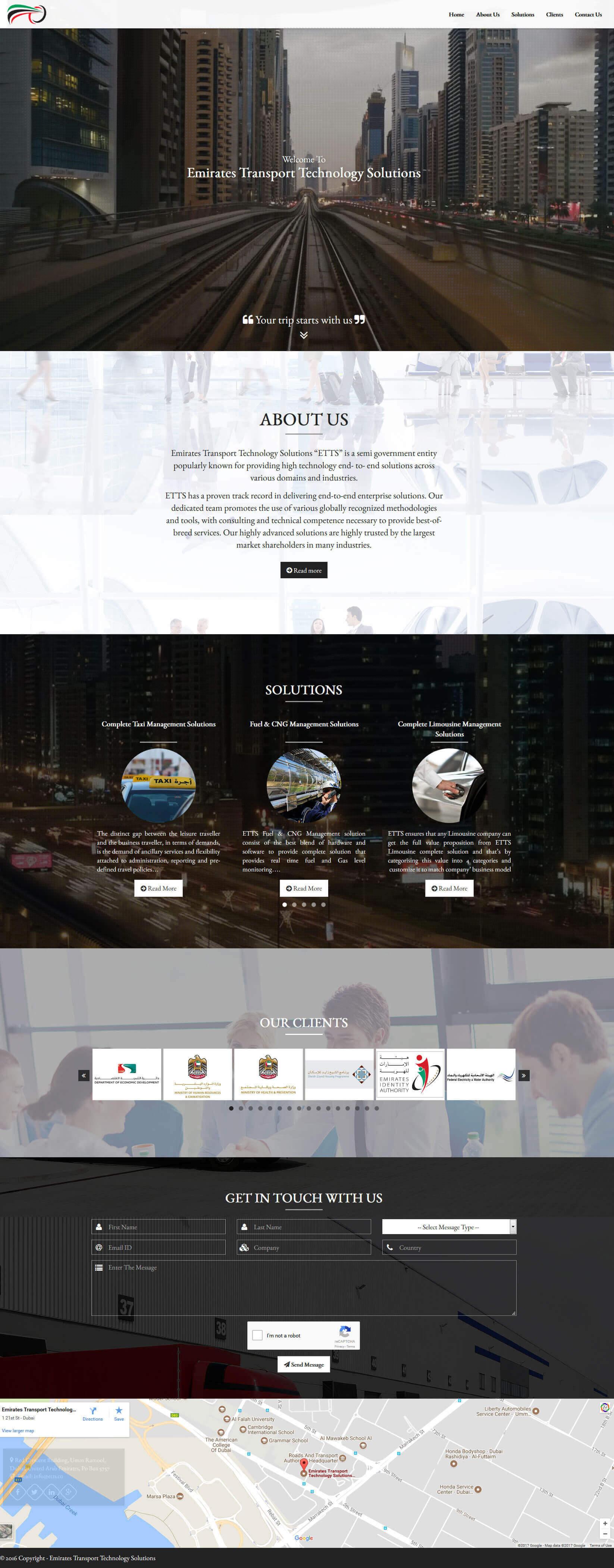 Emirates Transport Technology Solutions Web Design & Development (Wordpress)