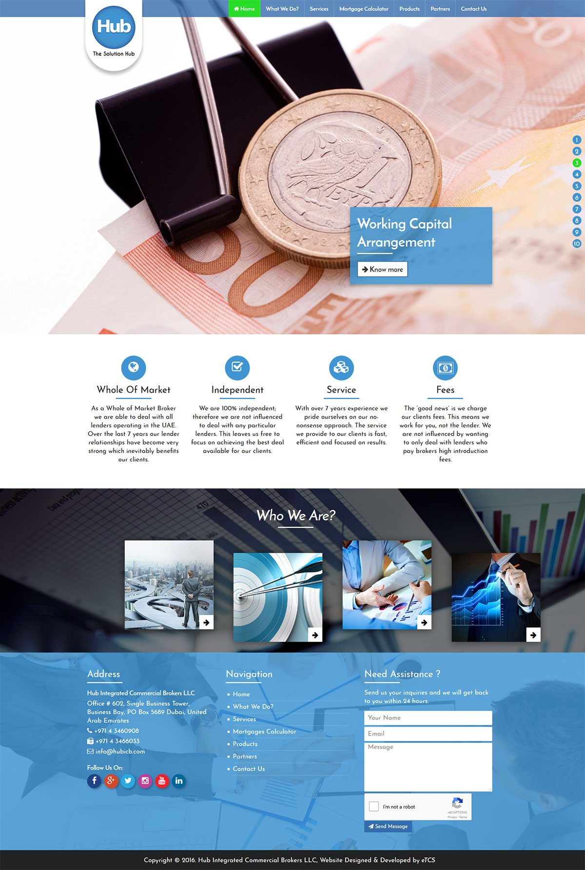 Hub Web Design (UI/UX)